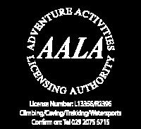 AALA logo in white