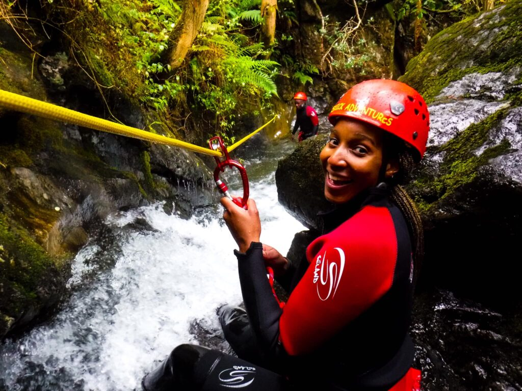 Lady Canyoning with Keswick Adventures in the Lake District
