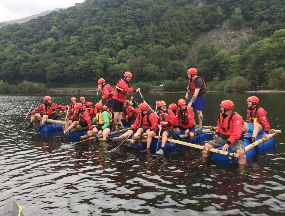 Raft Building in the Lake District with Keswick Adventures