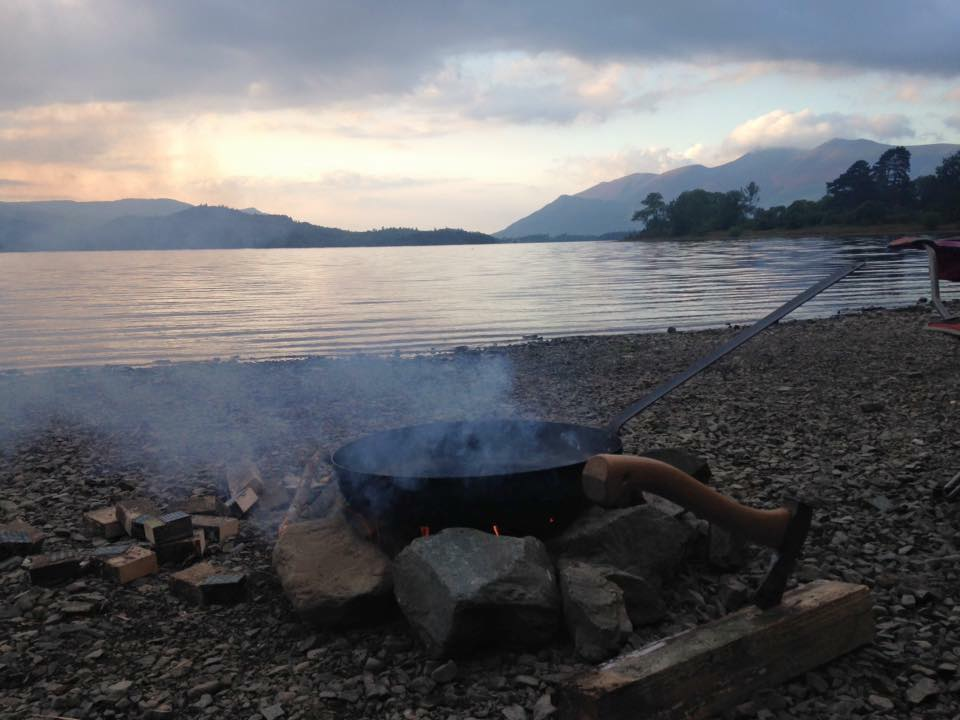 Camping by Derwentwater in the Lake District