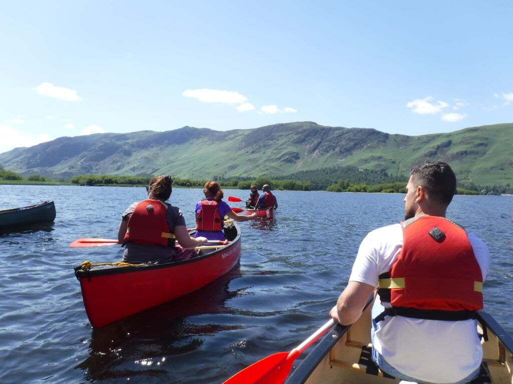 Canoeing on Derwentwater in the Lake District