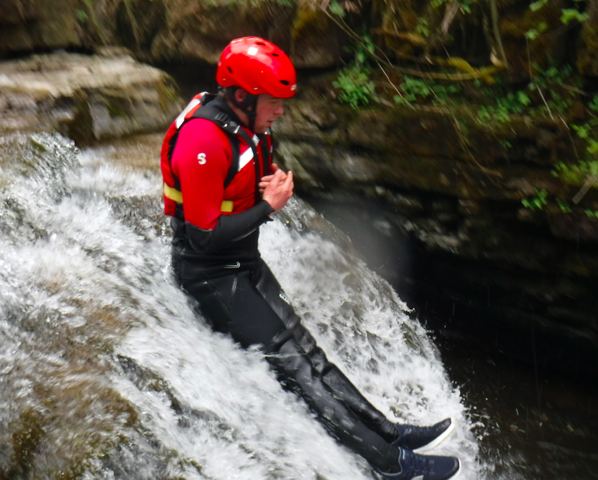 Ghyll scrambling in the Lake District