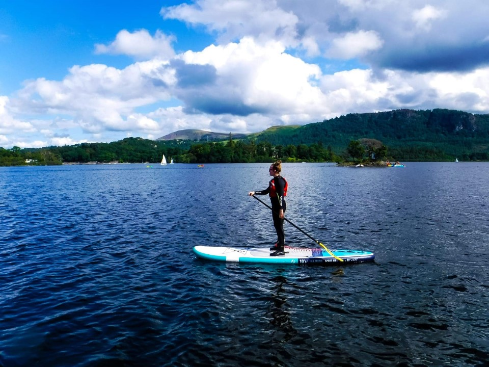 Paddle boarding in the Lake District with Keswick Adventures
