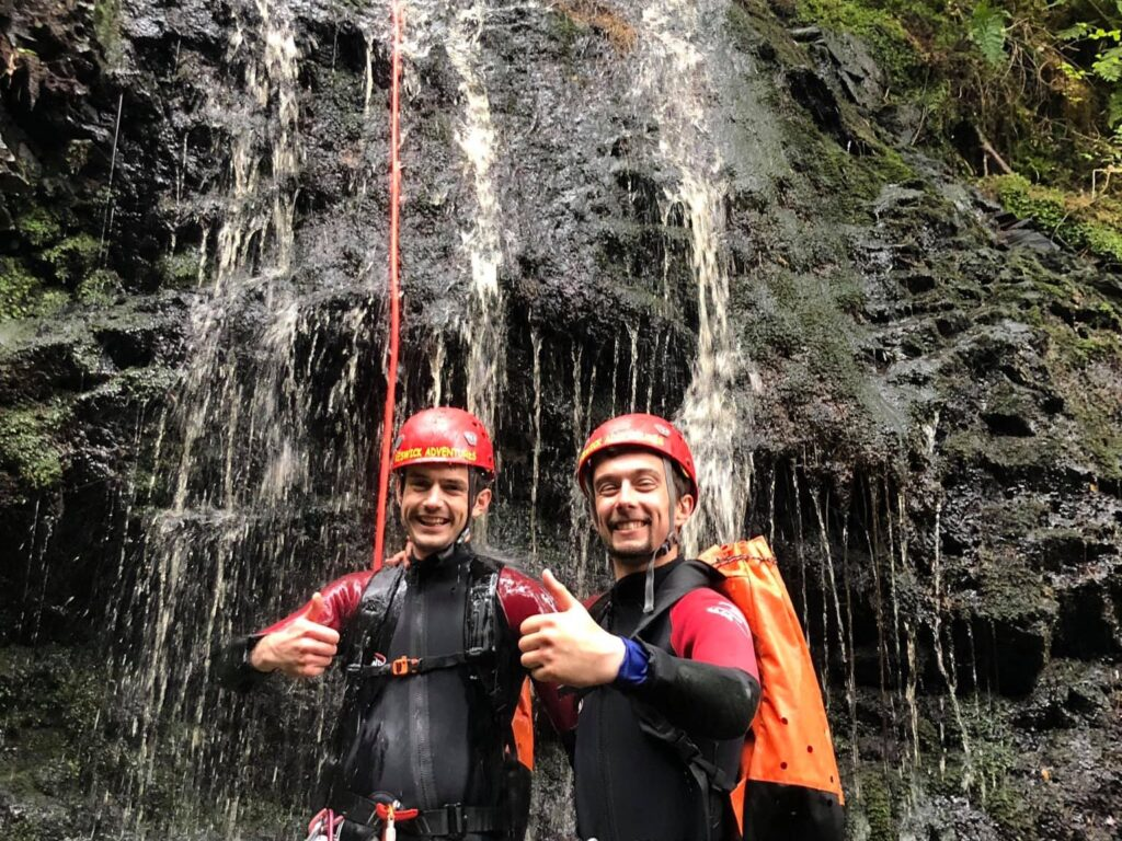 Canyoning waterfall with Keswick Adventures