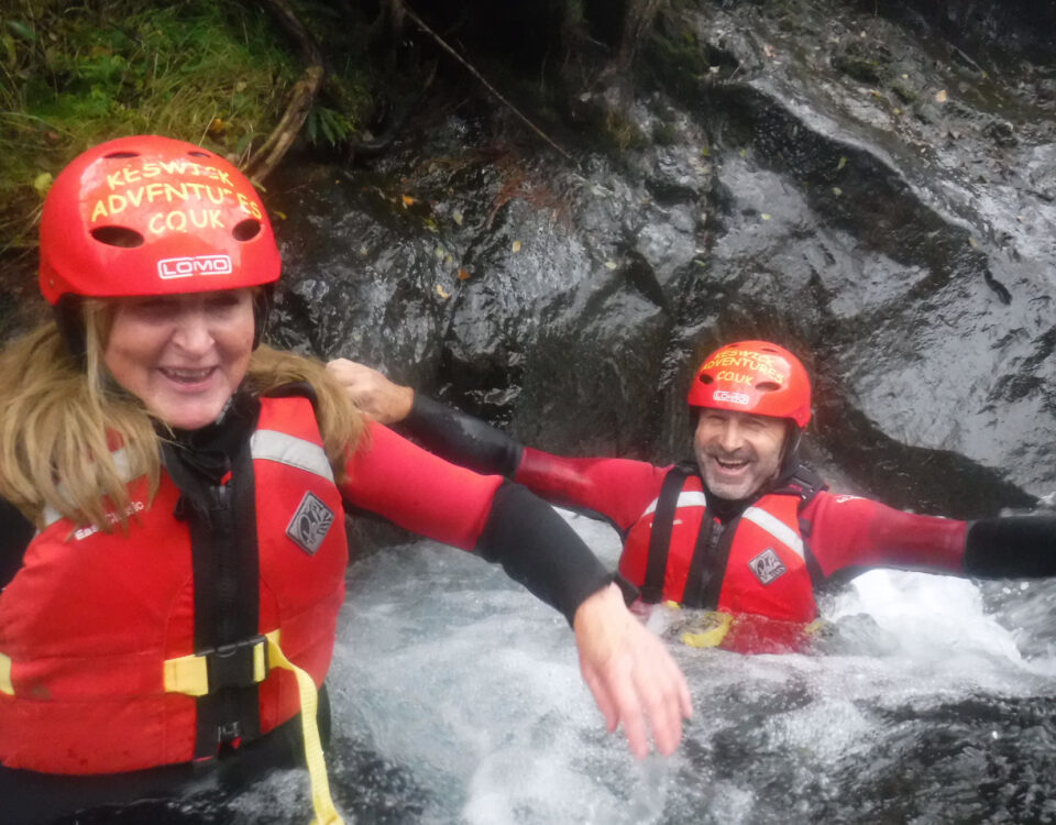 Ghyll scrambling in the Lake District with Keswick Adventures