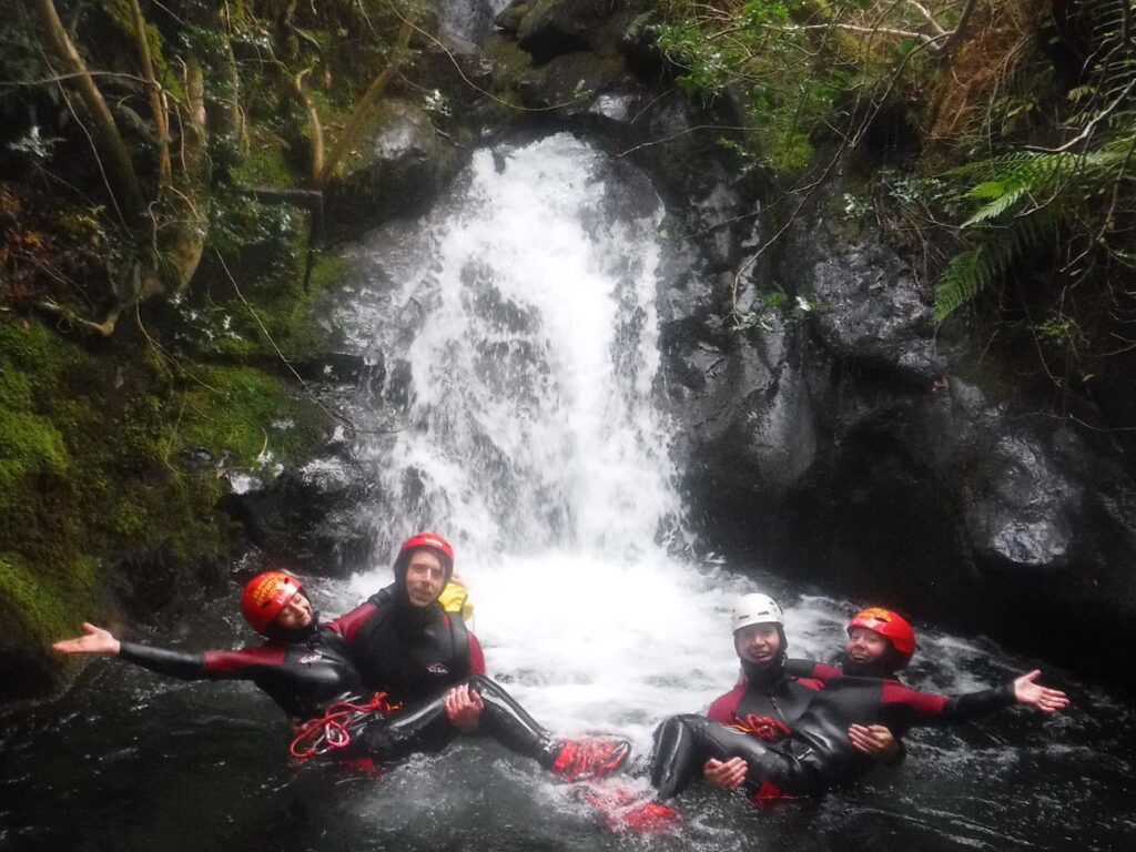 Canyoning in the rain with Keswick Adventures