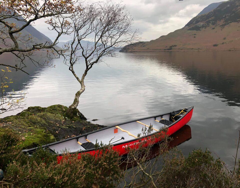 Canoe on Crummock Water