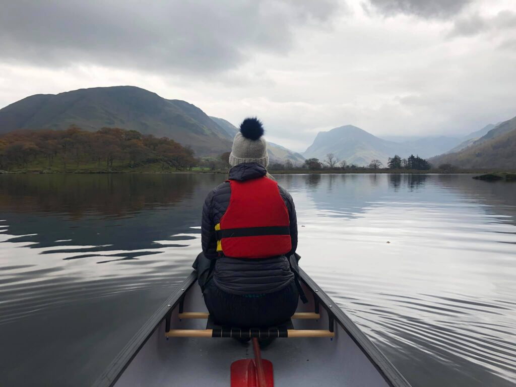 Canoeing on Crummock Water in the Lake District
