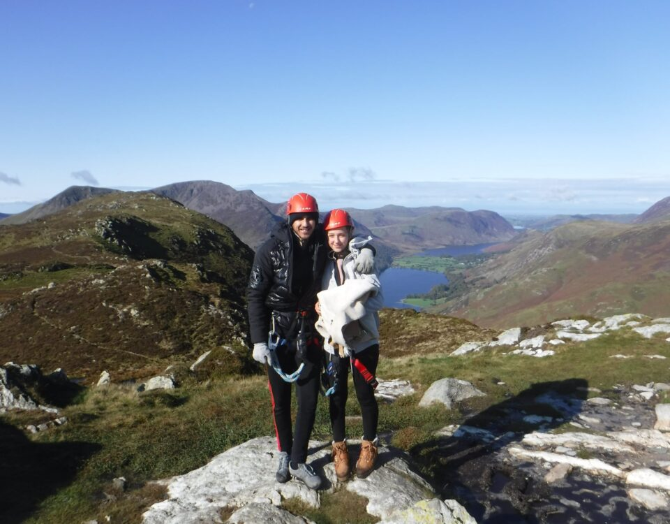 On top of the Via Ferrata in the Lake District