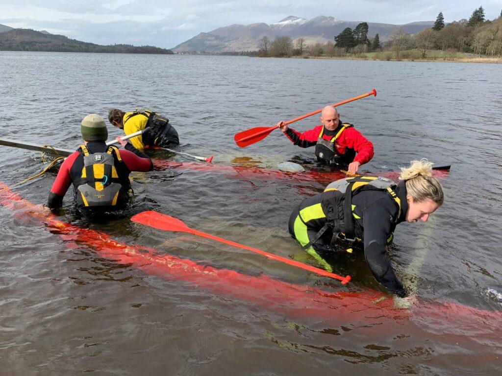 Staff training on Derwentwater