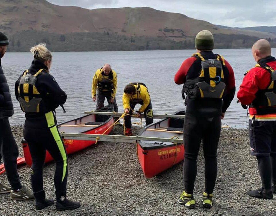Keswick Adventures staff at Derwentwater
