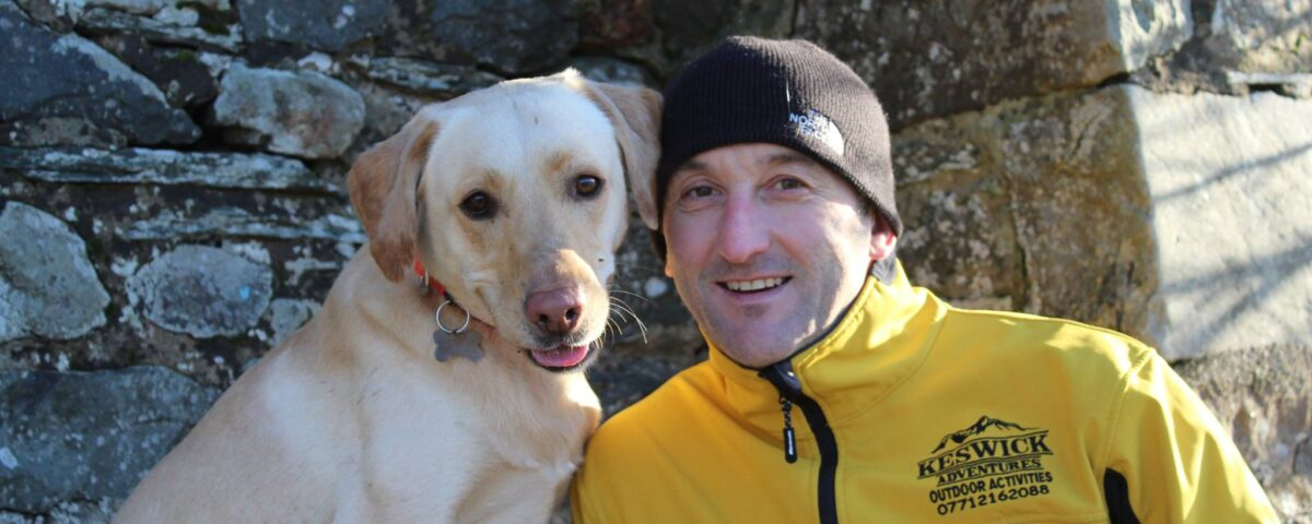 Lee Simpson and Buddy the dog