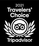 Trip Advisor 2021 Travelers' Choice Award baged