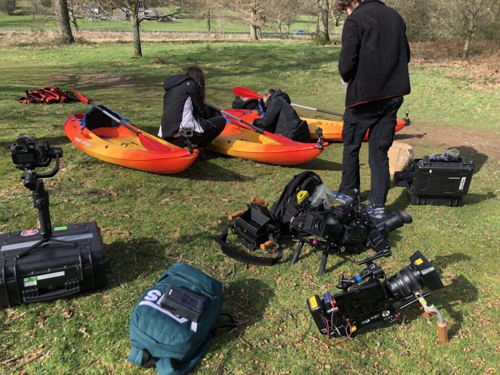 Kayaks and cameras on set of the Real Housewives of Cheshire