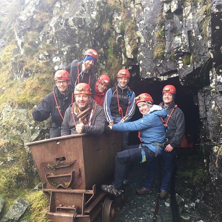 Stag group outside Honister Slate Mine
