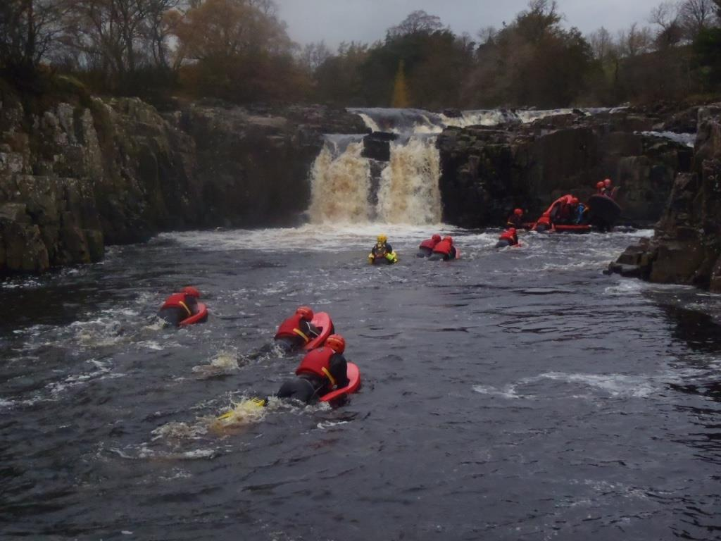 Stag group hydrospeeding in the North East